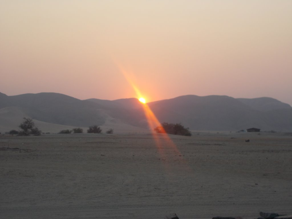 Sunrise in Puros Conservancy, Namibia.